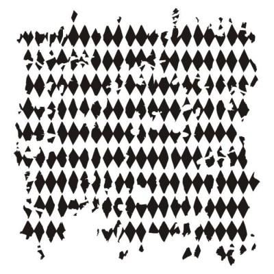 """13Arts - Stencil «Tattered diamonds» 6"""" X 6"""""""