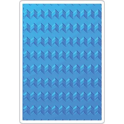 Sizzix - Plaques à embosser 3D de Tim Holtz «Geometric Chevrons»