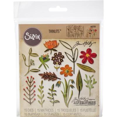 Sizzix - Thinlits Dies de Tim Holtz «Funky Floral # 2»  15 matrices