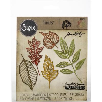 Sizzix - Thinlits Dies de Tim Holtz «Skeleton Leaves» 5 pcs