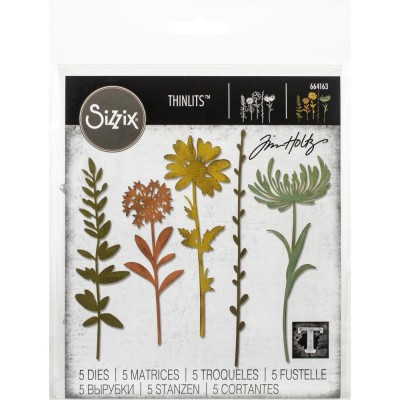 Sizzix - Thinlits Dies de Tim Holtz «Wildflower Stems #1» 5 pcs