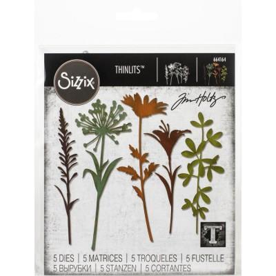 Sizzix - Thinlits Dies de Tim Holtz «Wildflower Stems #2» 5 pcs