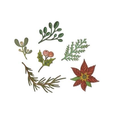 Tim Holtz Sizzix -«Funky Festive Florals» 6 pièces