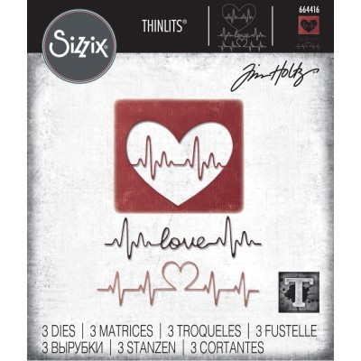 Sizzix - Thinlits Dies de Tim Holtz «Heartbeat»