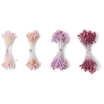 Sizzeix - Embellissements «Flower Stamens» couleur «Pink & Purple»