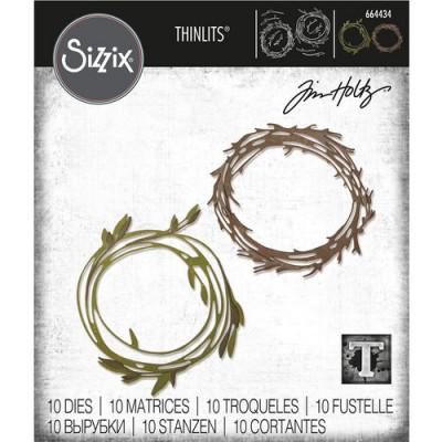 Sizzix - Thinlits Dies de Tim Holtz «Funky Wreath» 10 matrices