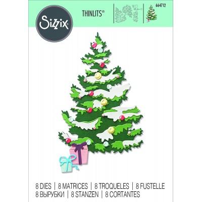Sizzix - Thinlits Dies de Tim Holtz «Layered Christmas Tree» 8 pcs