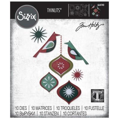Sizzix - Thinlits Dies de Tim Holtz «Ornamental Birds» 10 pcs