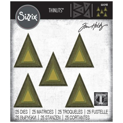 Sizzix - Thinlits Dies de Tim Holtz «Stacked Tiles Triangles» 25 pcs