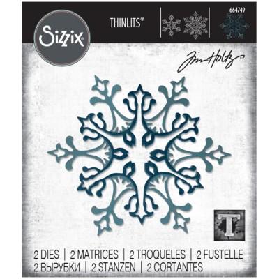 Sizzix - Thinlits Dies de Tim Holtz «Stunning Snowflake» 2 pcs