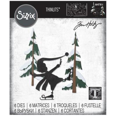 PRÉCOMANDE Sizzix - Thinlits Dies de Tim Holtz «Thin Ice» 6 pcs
