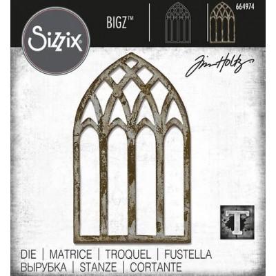 Sizzix - Bigz Die de Tim Holtz «Cathedral Window»