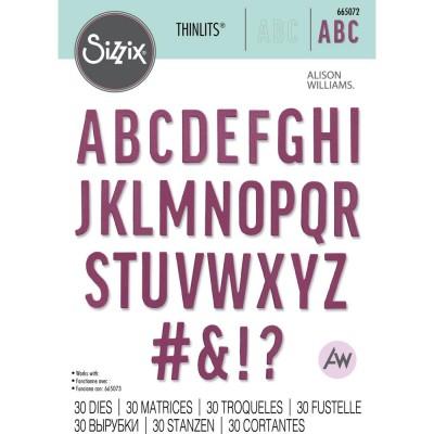 Sizzix - Thinlits Dies de Alison Williams «Bold Alphabet» 30 pcs