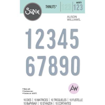 Sizzix - Thinlits Dies de Alison Williams «Bold Numbers» 10 pcs