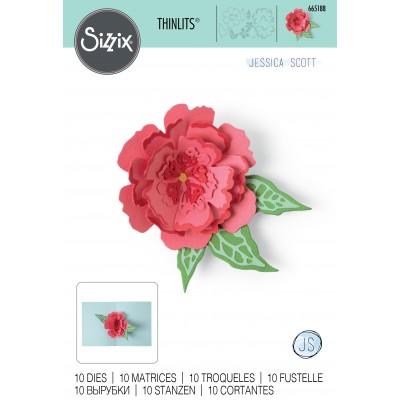 Sizzix - Thinlits Dies «Pop-Up Flower» 10 pcs