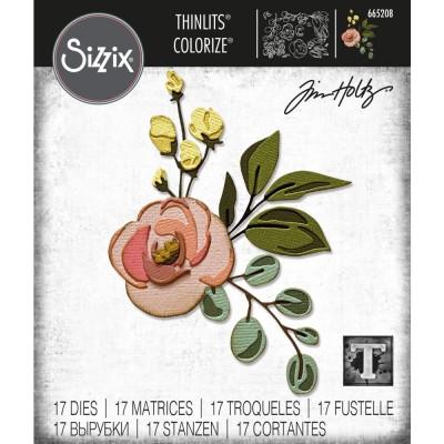Sizzix - Thinlits Dies de Tim Holtz «Bloom Colorize» 17 pcs