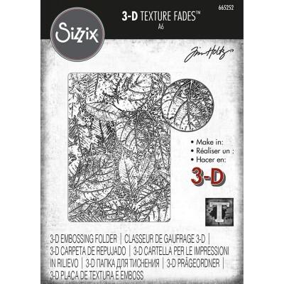 Sizzix - Plaques à embosser 3D de Tim Holtz «Foliage»