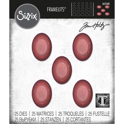 Sizzix - Thinlits Dies de Tim Holtz «Stacked Tiles Ovals»  25 matrices