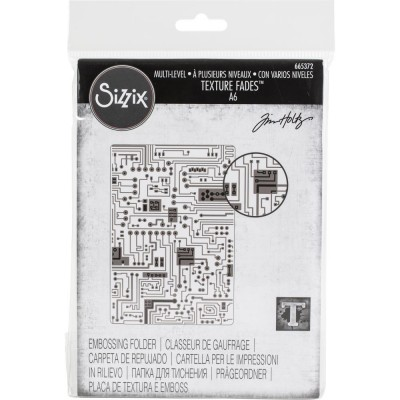 Sizzix - Plaques à embosser 3D de Tim Holtz «Circuit»