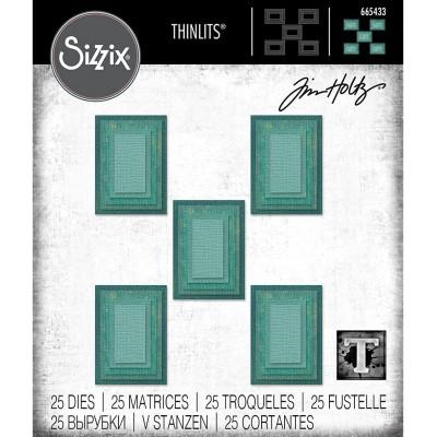 Sizzix - Thinlits Dies de Tim Holtz «Stacked Rectangles»  25 matrices