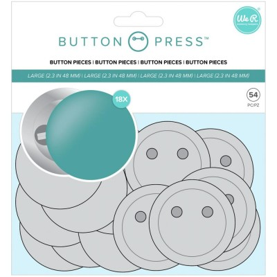 """WE R Memory - «Button Press Refill Pack Large 58mm"""" 18 pièces"""
