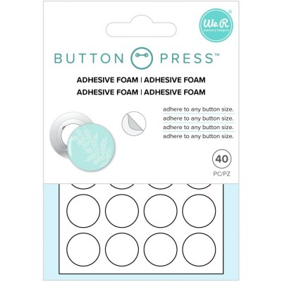 WE R Memory - «Button Press Adhesive Foam»  40 pièces