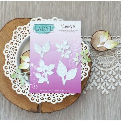Lady E Design - Dies «Leaves 008» 4 pcs