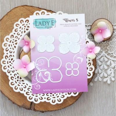 Lady E Design - Dies «Flower 008» 4 pcs