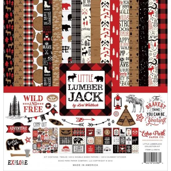 """Echo Park - Bloc de  papier double face «Little Lumberjack»  12"""" X 12""""   12 feuilles"""