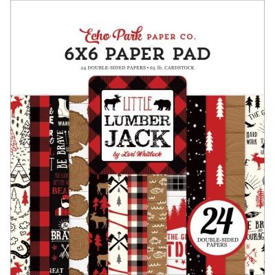 """Echo Park - Bloc de  papier double face «Little Lumberjack»  6"""" X 6""""   24 feuilles"""