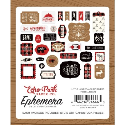 Carta Bella - Éphéméra «Little Lumberjack» ensemble 33pcs