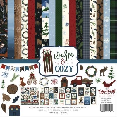 """Echo Park - Bloc de  papier double face «Warm & Cozy»  12"""" X 12""""   12 feuilles"""