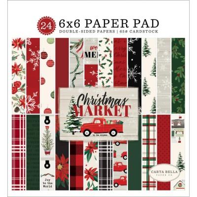"""Carta Bella - ensemble de papier recto-verso  «Christmas Market» 6"""" X 6"""""""