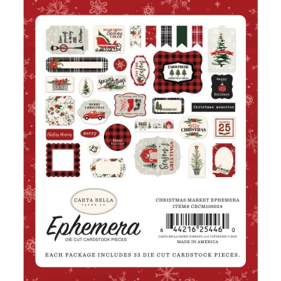 Carta Bella - Éphéméra «Christmas Market Icons» ensemble 33pcs