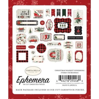 Carta Bella - Éphéméra «Christmas Market Icons» ensemble 33pcs