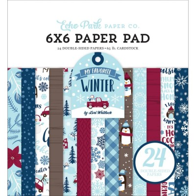 "Echo Park - Bloc de  papier double face «My Favorite Winter»  6"" X 6""   24 feuilles"