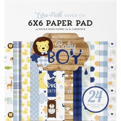 """Echo Park - Bloc de  papier double face «Baby Boy»  6"""" X 6""""   24 feuilles"""