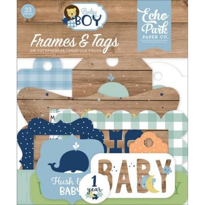 Echo Park - Éphéméra «Baby Boy» 33pcs
