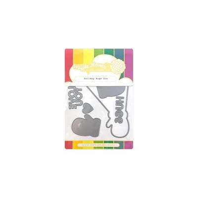 Waffle Flower - Die modèle «Holiday Hugs» 8 pièces