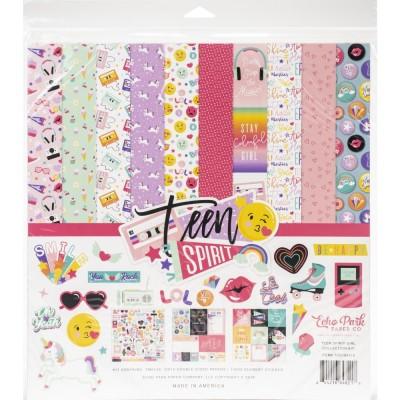 """Echo Park - Bloc de  papier «Teen Spirit Girl» 12"""" X 12"""" 12 feuilles"""
