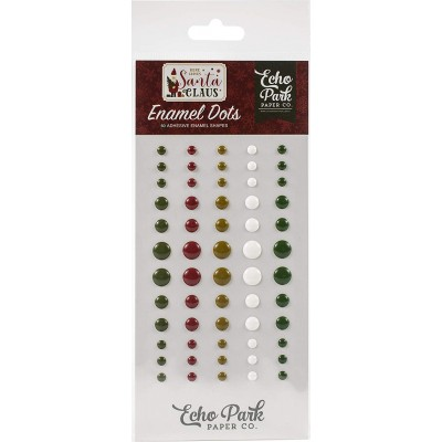 Echo Park - Enamel Dots «Here comes Santa Claus» ensemble 60 pcs
