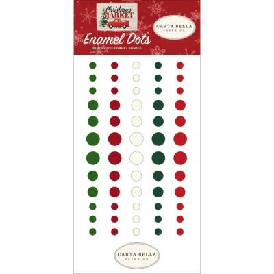 Carta Bella - Enamel Dots «Christmas Market» ensemble 60 pcs