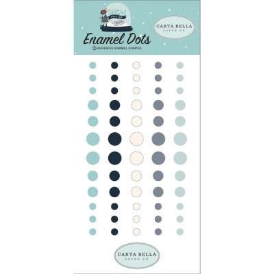 Carta Bella - enamel dots autocollant «Snow much fun» 60 pièces