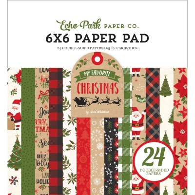 "Echo Park - Bloc de  papier double face «My Favorite Christmas»  6"" X 6""   24 feuilles"