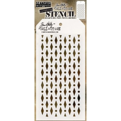 "Tim Holtz - Layered Stencil «Diamond Dot» 4.125"" X 8.5"""