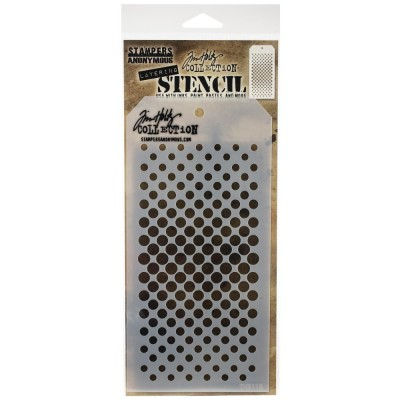 "Tim Holtz - Layered Stencil «Gradient Dot» 4.125"" X 8.5"""