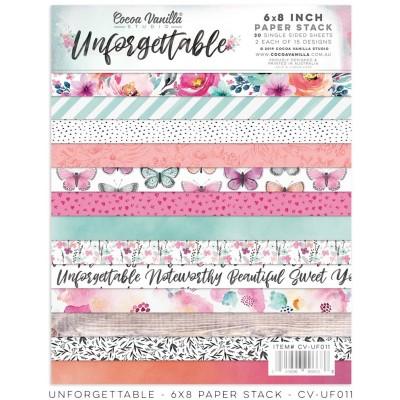 """Coco Vanilla Studio - Ensemble de papier «Unforgettable» 6""""X8"""" recto 30 feuilles / Pqt"""
