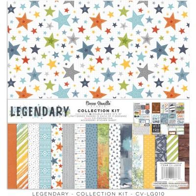 """Cocoa Vanilla - Collection de papier «Legendary» 12"""" X 12"""" recto-verso 18 feuilles"""