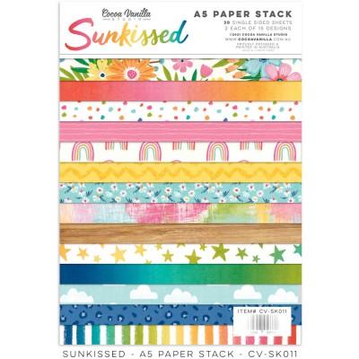 "Cocoa Vanilla Studio - Ensemble de papier «Sunkissed» 6""X 8"" recto 30 feuilles / Pqt"
