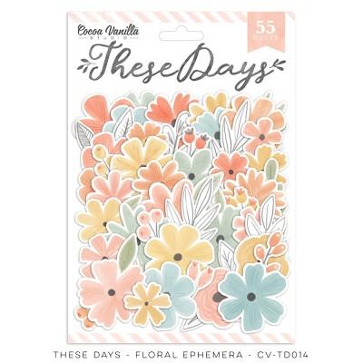 Cocoa Vanilla - Éphéméra «These Days Floral» 55 pcs